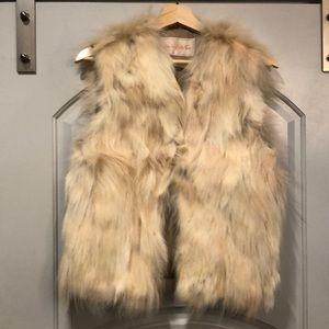 Vintage real Artic fur vest.